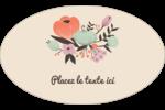 Jardin exotique Étiquettes ovales - gabarit prédéfini. <br/>Utilisez notre logiciel Avery Design & Print Online pour personnaliser facilement la conception.