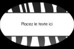 Imprimé zébré Étiquettes carrées - gabarit prédéfini. <br/>Utilisez notre logiciel Avery Design & Print Online pour personnaliser facilement la conception.