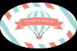 Ballon bleu Étiquettes carrées - gabarit prédéfini. <br/>Utilisez notre logiciel Avery Design & Print Online pour personnaliser facilement la conception.