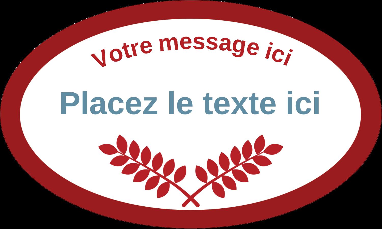 """1½"""" x 1½"""" Étiquettes carrées - Feuillage rouge et gris"""
