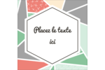 Mosaïque tangram rose et verte  Étiquettes carrées - gabarit prédéfini. <br/>Utilisez notre logiciel Avery Design & Print Online pour personnaliser facilement la conception.