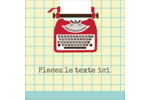 Machine à écrire Étiquettes carrées - gabarit prédéfini. <br/>Utilisez notre logiciel Avery Design & Print Online pour personnaliser facilement la conception.