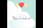 Ballon d'amour de Saint-Valentin Étiquettes carrées - gabarit prédéfini. <br/>Utilisez notre logiciel Avery Design & Print Online pour personnaliser facilement la conception.
