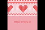 Saint-Valentin en point de croix Étiquettes carrées - gabarit prédéfini. <br/>Utilisez notre logiciel Avery Design & Print Online pour personnaliser facilement la conception.