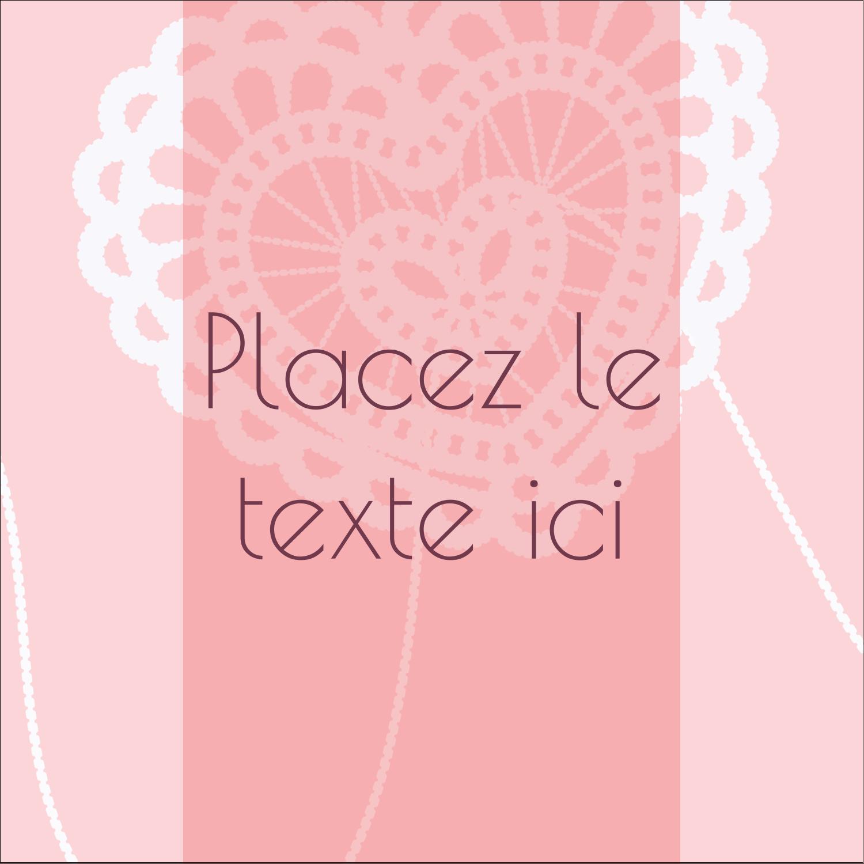"""2"""" x 2"""" Étiquettes carrées - Saint-Valentin au crochet"""