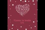 Amas en cœur Étiquettes carrées - gabarit prédéfini. <br/>Utilisez notre logiciel Avery Design & Print Online pour personnaliser facilement la conception.