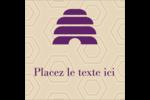 Ruche violette Étiquettes carrées - gabarit prédéfini. <br/>Utilisez notre logiciel Avery Design & Print Online pour personnaliser facilement la conception.
