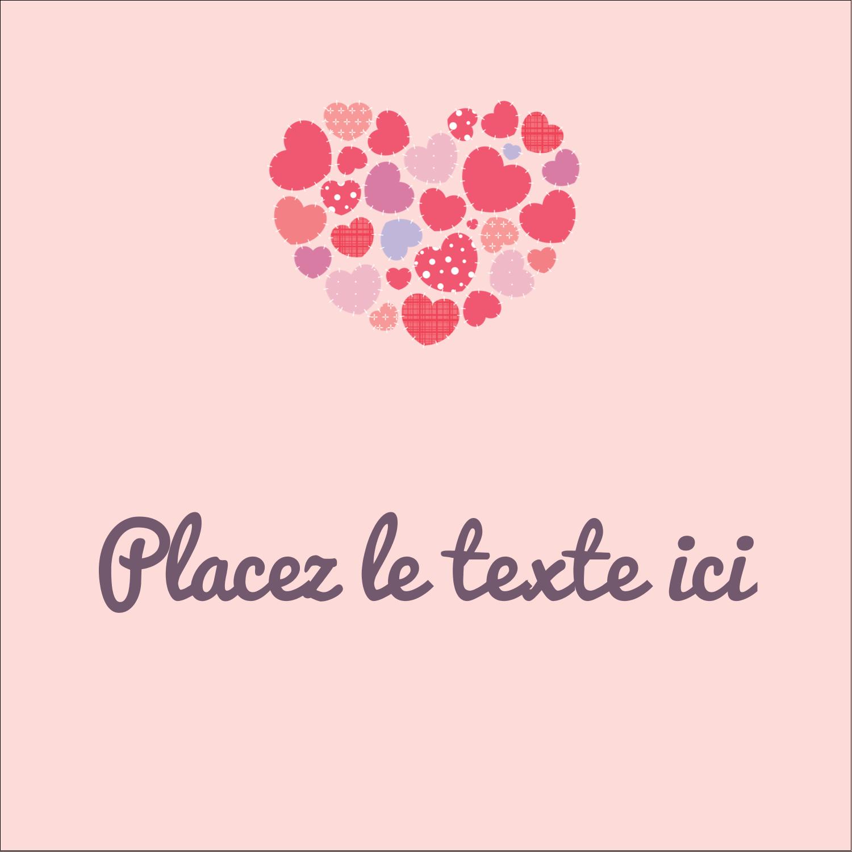 """2"""" Diameter Étiquettes rondes - Courtepointe en cœur"""
