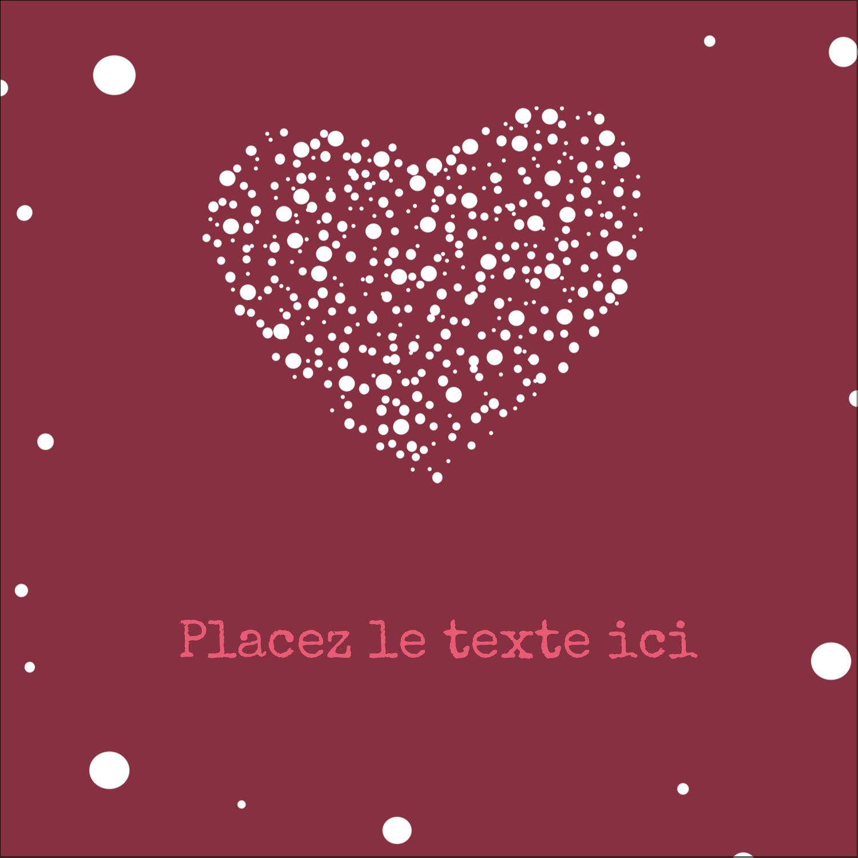 """2"""" Diameter Étiquettes rondes - Amas en cœur"""