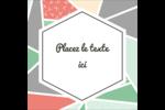 Mosaïque tangram rose et verte  Étiquettes enveloppantes - gabarit prédéfini. <br/>Utilisez notre logiciel Avery Design & Print Online pour personnaliser facilement la conception.