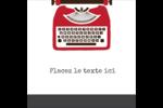 Machine à écrire Étiquettes enveloppantes - gabarit prédéfini. <br/>Utilisez notre logiciel Avery Design & Print Online pour personnaliser facilement la conception.