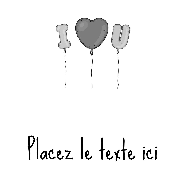 """9¾"""" x 1¼"""" Étiquettes enveloppantes - Ballon d'amour de Saint-Valentin"""