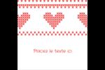 Saint-Valentin en point de croix Étiquettes enveloppantes - gabarit prédéfini. <br/>Utilisez notre logiciel Avery Design & Print Online pour personnaliser facilement la conception.