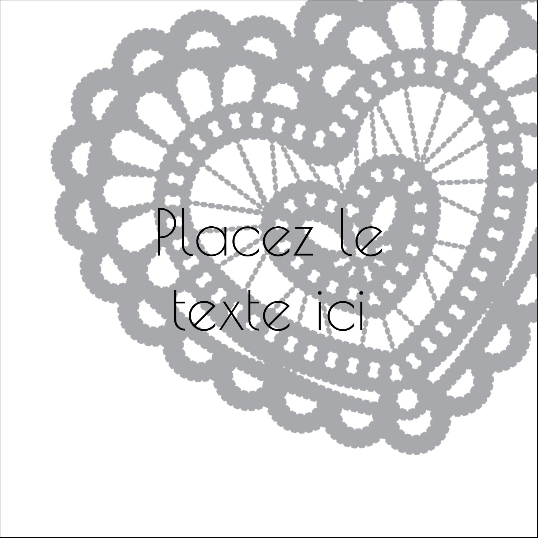 """9¾"""" x 1¼"""" Étiquettes enveloppantes - Saint-Valentin au crochet"""