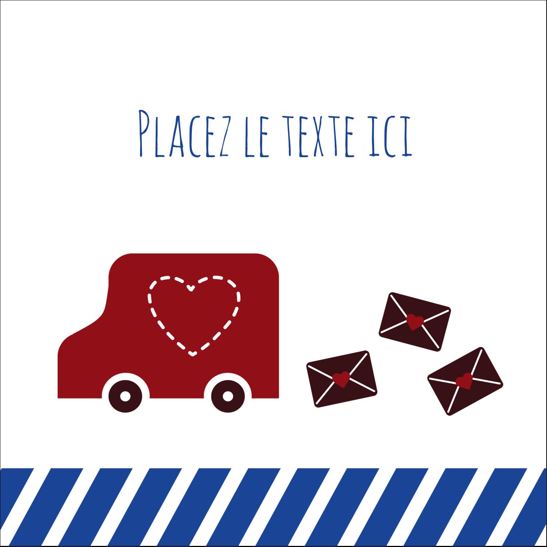 """9¾"""" x 1¼"""" Étiquettes enveloppantes - Saint-Valentin par la poste"""
