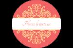 Élégance et mariage Étiquettes rondes - gabarit prédéfini. <br/>Utilisez notre logiciel Avery Design & Print Online pour personnaliser facilement la conception.