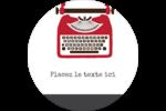 Machine à écrire Étiquettes arrondies - gabarit prédéfini. <br/>Utilisez notre logiciel Avery Design & Print Online pour personnaliser facilement la conception.