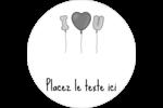 Ballon d'amour de Saint-Valentin Étiquettes arrondies - gabarit prédéfini. <br/>Utilisez notre logiciel Avery Design & Print Online pour personnaliser facilement la conception.