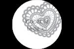 Saint-Valentin au crochet Étiquettes arrondies - gabarit prédéfini. <br/>Utilisez notre logiciel Avery Design & Print Online pour personnaliser facilement la conception.