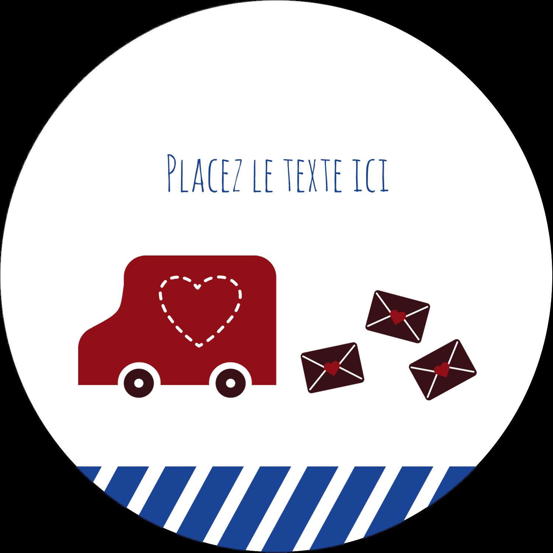 """3"""" x 2¼"""" Étiquettes arrondies - Saint-Valentin par la poste"""