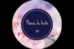 Arrangement floral Étiquettes arrondies - gabarit prédéfini. <br/>Utilisez notre logiciel Avery Design & Print Online pour personnaliser facilement la conception.