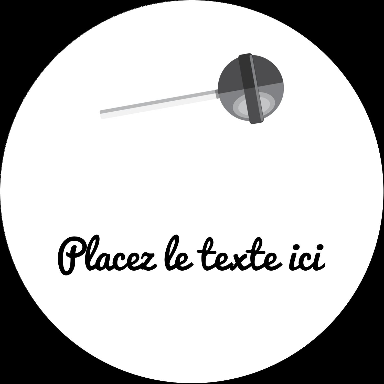 """3"""" x 2¼"""" Étiquettes arrondies - Sucette de Saint-Valentin"""