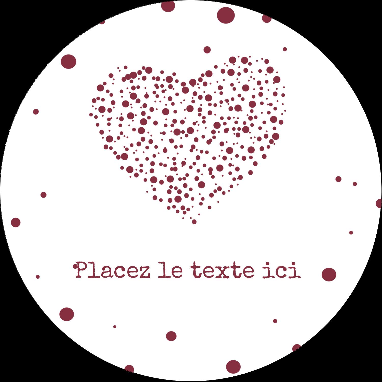"""3"""" x 2¼"""" Étiquettes arrondies - Amas en cœur"""