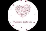 Amas en cœur Étiquettes arrondies - gabarit prédéfini. <br/>Utilisez notre logiciel Avery Design & Print Online pour personnaliser facilement la conception.