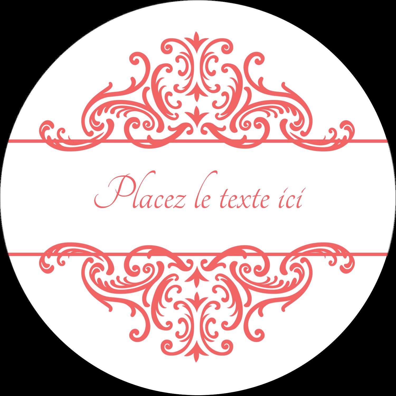 """3"""" x 2¼"""" Étiquettes arrondies - Élégance et mariage"""