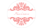 Élégance et mariage Étiquettes arrondies - gabarit prédéfini. <br/>Utilisez notre logiciel Avery Design & Print Online pour personnaliser facilement la conception.