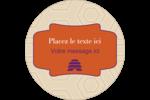 Ruche violette Étiquettes arrondies - gabarit prédéfini. <br/>Utilisez notre logiciel Avery Design & Print Online pour personnaliser facilement la conception.
