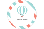 Ballon bleu Étiquettes arrondies - gabarit prédéfini. <br/>Utilisez notre logiciel Avery Design & Print Online pour personnaliser facilement la conception.