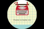 Machine à écrire Étiquettes de classement - gabarit prédéfini. <br/>Utilisez notre logiciel Avery Design & Print Online pour personnaliser facilement la conception.