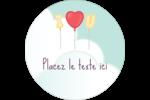 Ballon d'amour de Saint-Valentin Étiquettes de classement - gabarit prédéfini. <br/>Utilisez notre logiciel Avery Design & Print Online pour personnaliser facilement la conception.
