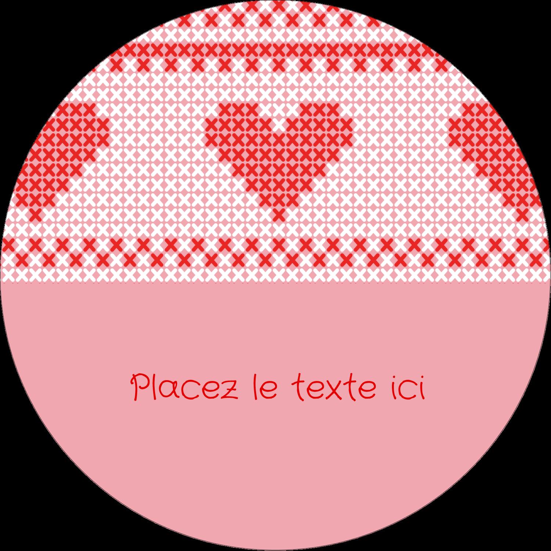 """3-7/16"""" x 15/16"""" Étiquettes de classement - Saint-Valentin en point de croix"""