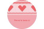 Saint-Valentin en point de croix Étiquettes de classement - gabarit prédéfini. <br/>Utilisez notre logiciel Avery Design & Print Online pour personnaliser facilement la conception.