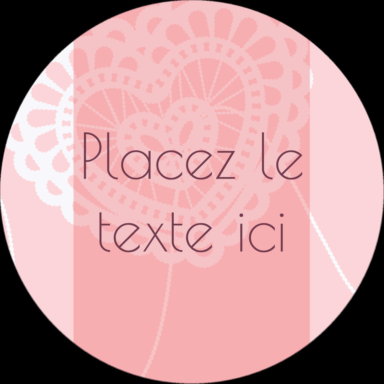 """3-7/16"""" x 15/16"""" Étiquettes de classement - Saint-Valentin au crochet"""