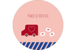 Saint-Valentin par la poste Étiquettes de classement - gabarit prédéfini. <br/>Utilisez notre logiciel Avery Design & Print Online pour personnaliser facilement la conception.