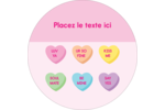 Bonbon en cœur de Saint-Valentin Étiquettes de classement - gabarit prédéfini. <br/>Utilisez notre logiciel Avery Design & Print Online pour personnaliser facilement la conception.