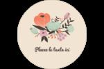 Jardin exotique Étiquettes rondes - gabarit prédéfini. <br/>Utilisez notre logiciel Avery Design & Print Online pour personnaliser facilement la conception.