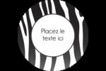 Imprimé zébré Étiquettes de classement - gabarit prédéfini. <br/>Utilisez notre logiciel Avery Design & Print Online pour personnaliser facilement la conception.