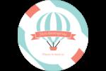 Ballon bleu Étiquettes de classement - gabarit prédéfini. <br/>Utilisez notre logiciel Avery Design & Print Online pour personnaliser facilement la conception.