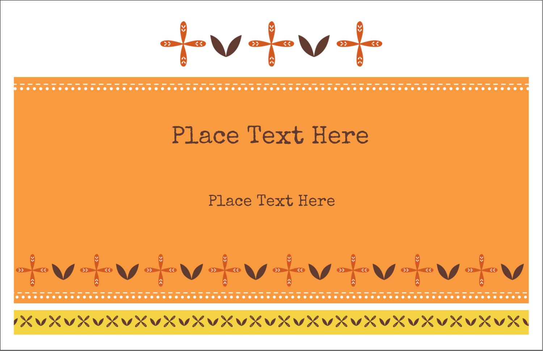 "5½"" x 8½"" Greeting Card - Geometric Orange Blossoms"