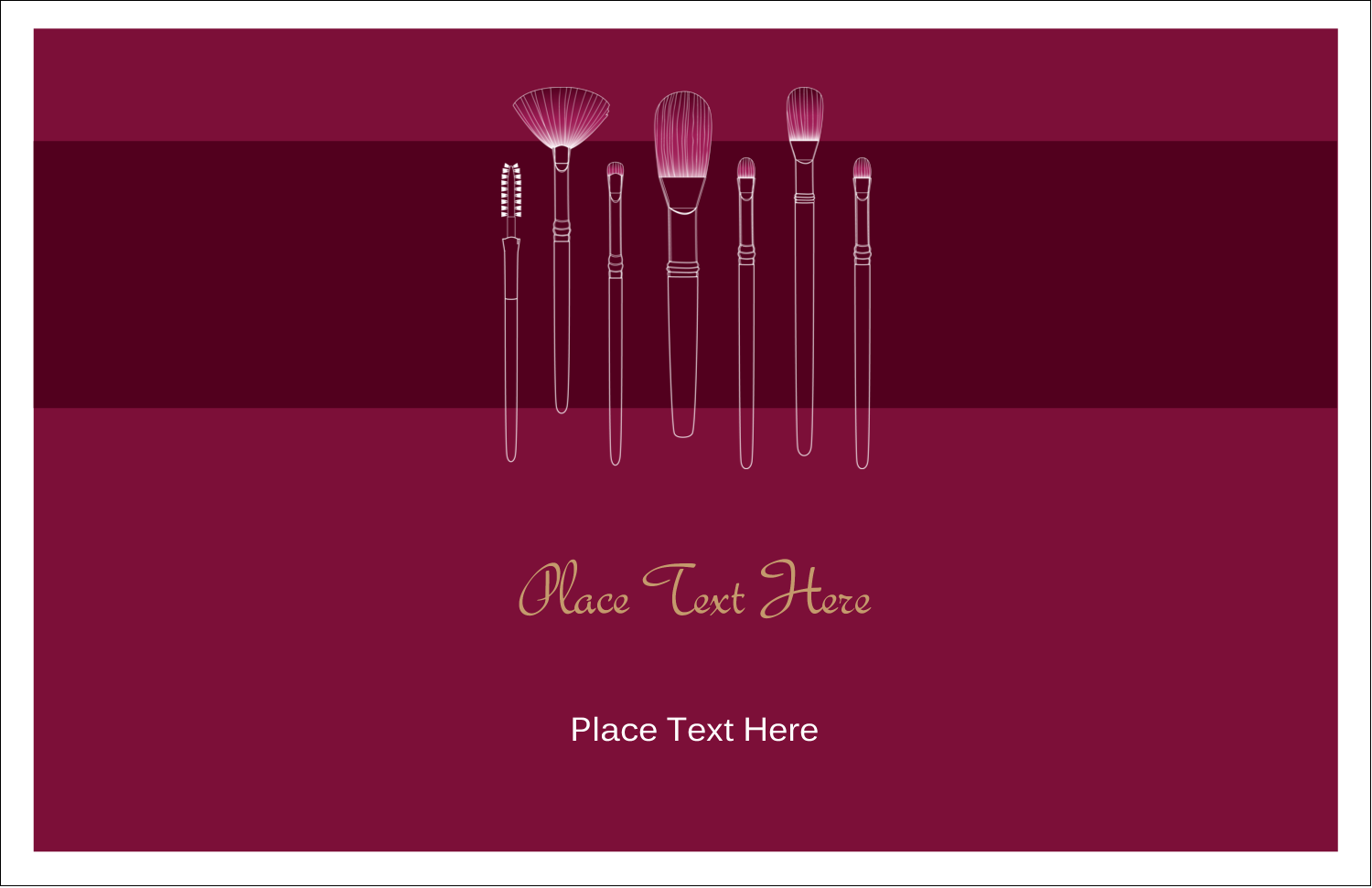 "5½"" x 8½"" Greeting Card - Cosmetic Brushes"
