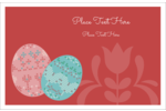 Adorn Easter projects with a pair of pastel decorative eggs in a cross-stitch pattern.