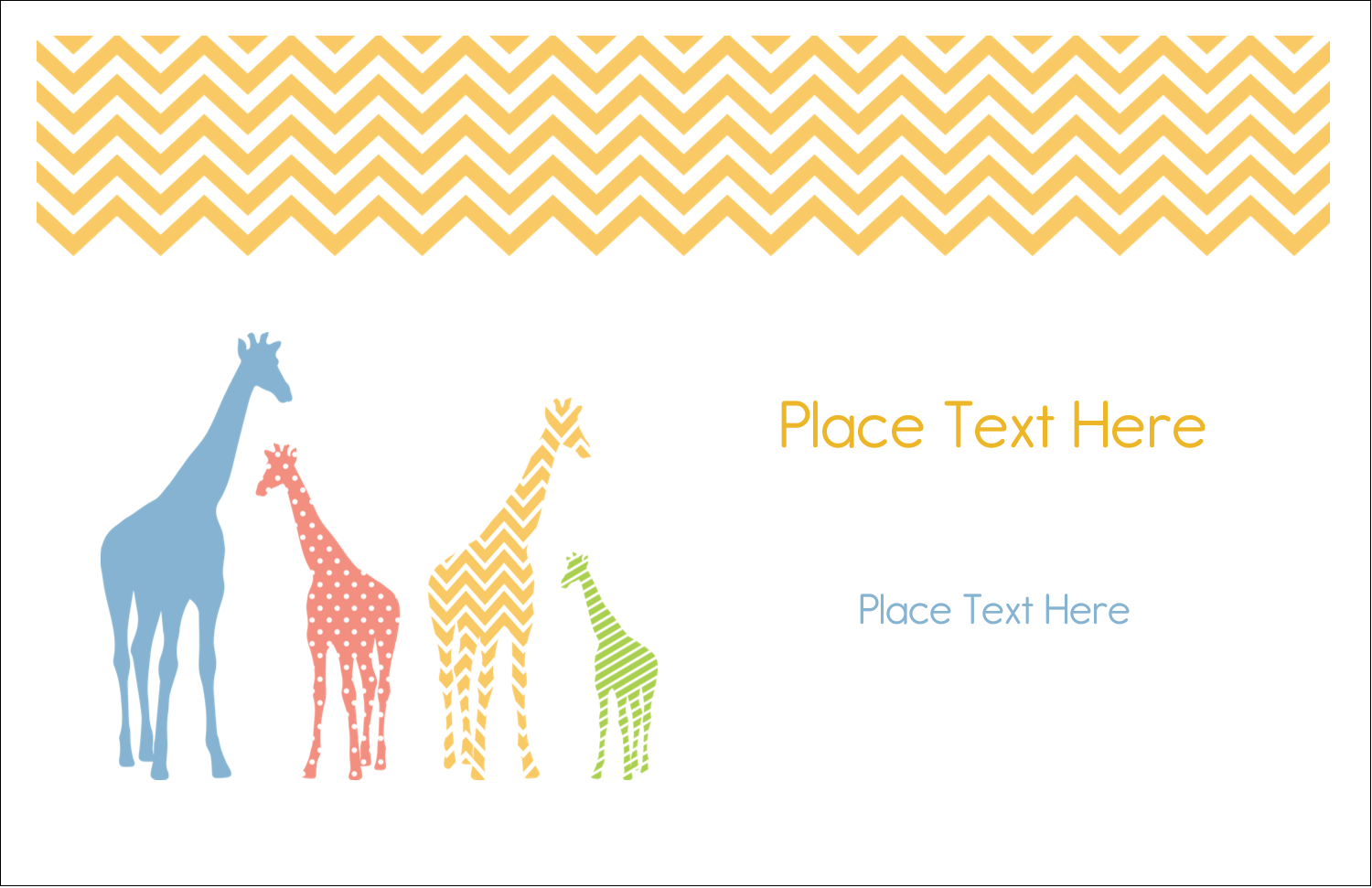 "5½"" x 8½"" Greeting Card - Giraffe Party"