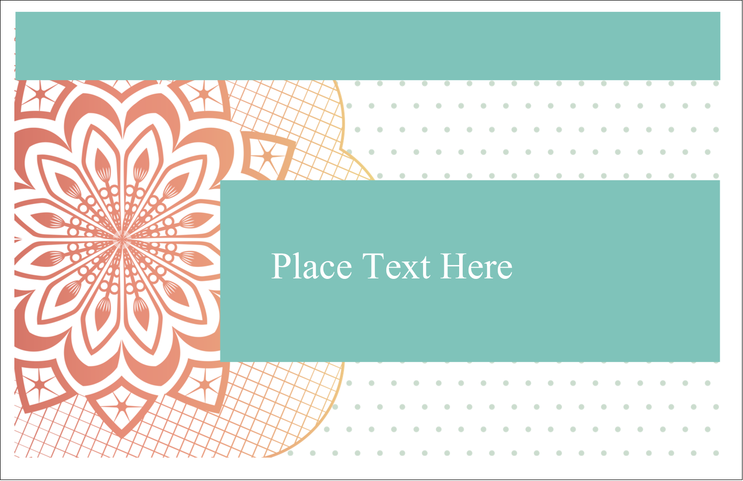 "5½"" x 8½"" Greeting Card - Geometric Doily"
