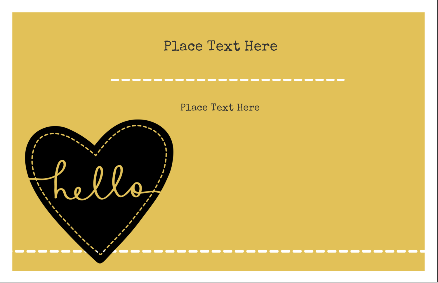 "5½"" x 8½"" Greeting Card - Stitched Heart Hello"