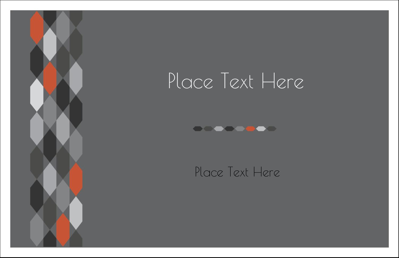 "5½"" x 8½"" Greeting Card - Hexagon Orange"