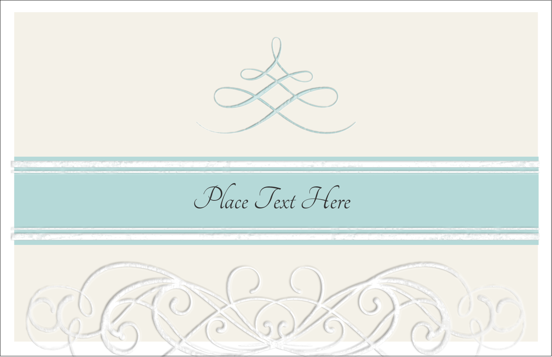"5½"" x 8½"" Greeting Card - Letterpress Elegant"